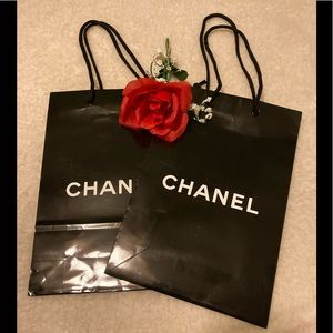 2 Chanel black gift bags